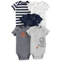 carter's® Animal Size 6M 5-Pack Short Sleeve Bodysuits