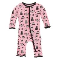 KicKee Pants® Newborn Teatime Ruffle Coverall in Pink