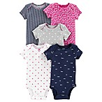 carter's® Size 12M 5-Pack Hearts Short-Sleeve Bodysuits
