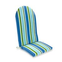 Stripe Outdoor Adirondack Cushion in Ocean