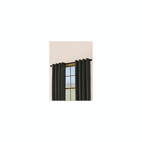 Berman 108-Inch Window Curtain Panel with Grommets in Black
