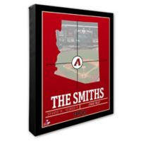 MLB Arizona Diamondbacks Team Coordinates Canvas Framed Print Wall Art