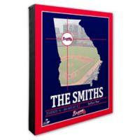 MLB Atlanta Braves Team Coordinates Canvas Framed Print Wall Art