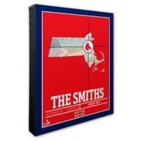 MLB Boston Red Sox Team Coordinates Canvas Framed Print Wall Art
