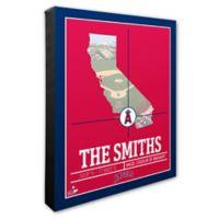 MLB Los Angeles Angels Team Coordinates Canvas Framed Print Wall Art