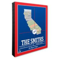 MLB Los Angeles Dodgers Team Coordinates Canvas Framed Print Wall Art