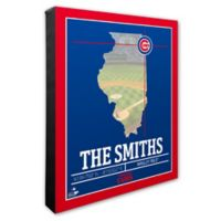 MLB Chicago Cubs Team Coordinates Canvas Framed Print Wall Art