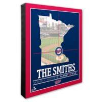 MLB Minnesota Twins Team Coordinates Canvas Framed Print Wall Art