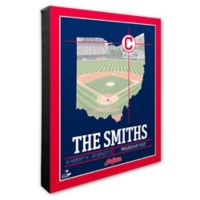 MLB Cleveland Indians Team Coordinates Canvas Framed Print Wall Art