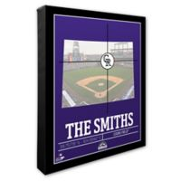 MLB Colorado Rockies Team Coordinates Canvas Framed Print Wall Art