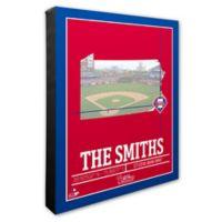 MLB Philadelphia Phillies Team Coordinates Canvas Framed Print Wall Art