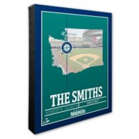 MLB Seattle Mariners Team Coordinates Canvas Framed Print Wall Art