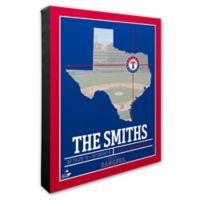 MLB Texas Rangers Team Coordinates Canvas Framed Print Wall Art