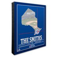 MLB Toronto Blue Jays Team Coordinates Canvas Framed Print Wall Art