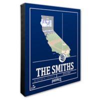 MLB San Diego Padres Team Coordinates Canvas Framed Print Wall Art