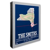 MLB New York Yankees Photo Coordinates Canvas Framed Print Wall Art