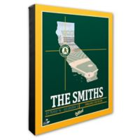 MLB Oakland A's Photo Coordinates Canvas Framed Print Wall Art
