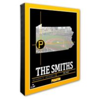 MLB Pittsburg Pirates Photo Coordinates Canvas Framed Print Wall Art