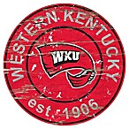 Western Kentucky University 24-Inch Round Distressed Sign