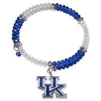 University of Kentucky Metal Logo Pendant Football Bead Bracelet