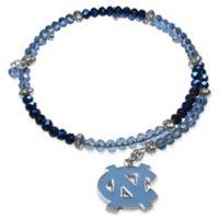 University of North Carolina Metal Logo Pendant Football Bead Bracelet