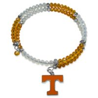 University of Tennessee Metal Logo Pendant Football Bead Bracelet