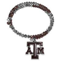 Texas A&M University Metal Logo Pendant Football Bead Bracelet