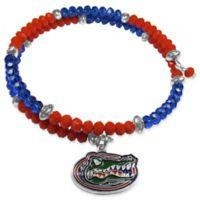 University of Florida Metal Logo Pendant Football Bead Bracelet