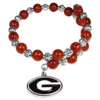 University of Georgia Metal Logo Pendant Bracelet