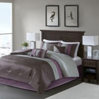 Amherst Plum 7-Piece King Comforter Set