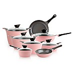 Neoflam® Eela™ Ceramic Nonstick Cast Aluminum 14-Piece Cookware Set in Pink
