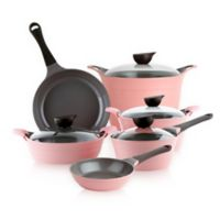 Neoflam® Eela™ Ceramic Nonstick Cast Aluminum 10-Piece Cookware Set in Pink