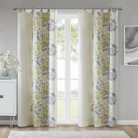 Madison Park™ Anaya Cotton 63-Inch Grommet Top Window Curtain Panel in Green/White