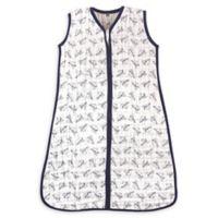Hudson Baby® Size 12-18M Paper Airplane Cotton Muslin Sleeping Bag in Navy/White