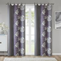 Madison Park™ Anaya Cotton 63-Inch Grommet Top Window Curtain Panel in Purple/Grey