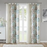 Madison Park™ Anaya Cotton 63-Inch Grommet Top Window Curtain Panel in Blue/Brown