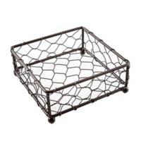 Thirstystone® Square Chicken Wire Coaster Holder in Brown