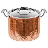 Fleischer & Wolf® Seville Tri-Ply 8 qt. Stock Pot in Copper