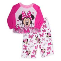 Disney® Size 2T 2-Piece Minnie Mouse Lots of Bows Pajama Set