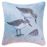 Sand Pipers Square Indoor/Outdoor Pillow in Blue