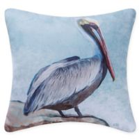 Pelican Square Indoor/Outdoor Pillow in Blue