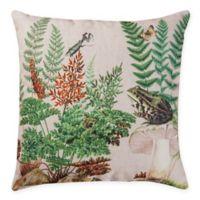 Fern & Frog Square Indoor/Outdoor Pillow in Green