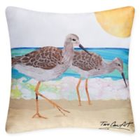 Sand Pipers Square Indoor/Outdoor Pillow in Natural