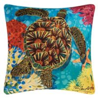 C&F Home Sea Turtle Square Indoor/Outdoor Pillow in Blue