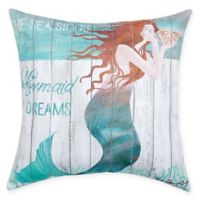C&F Home Mermaid Dreams Square Indoor/Outdoor Pillow in Blue