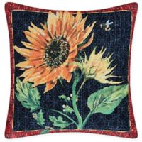 C&F Home Sunflower & Bee Square Indoor/Outdoor Pillow in Yellow