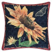 C&F Home Sunflower & Butterfly Square Indoor/Outdoor Pillow in Yellow