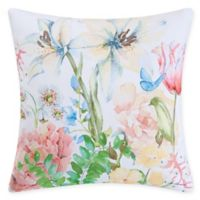 Butterfly Floral Square Decorative Pillow