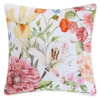 Sunny Floral Square Indoor/Outdoor Pillow in Pink