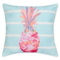 Palm Beach Pineapple Square Indoor/Outdoor Pillow in Blue
